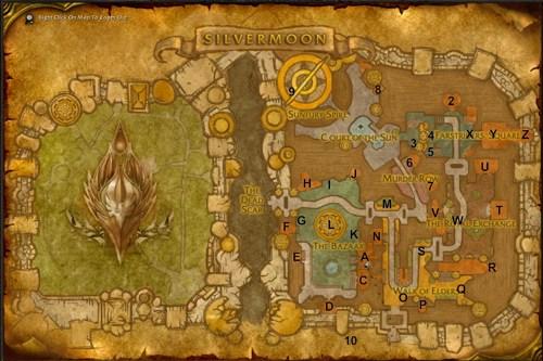 World of Warcraft Maps: Silvermoon City